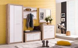 Zostava nábytku do predsiene Shine - dub sivý/biela