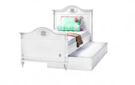 Detská posteľ s prístelkou Carmen 100x200cm - biela