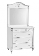 Zásuvková komoda so zrkadlom Carmen - biela