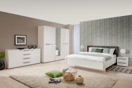 Moderná spálňa Aubrey II - biela