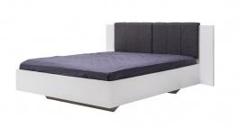 Manželská posteľ Stuart 160x200cm - biela/šedá