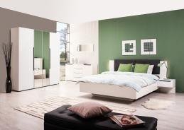 Spálňa Stuart I - biela/dub čierny