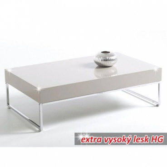 Konferenčný stolík Lotti - chróm/biely lesk
