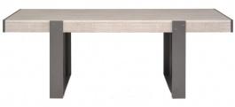 Jedálenský stôl Norty II - dub sivý / sivá