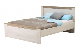 Manželská posteľ Henry 160x200cm - dub biely/dub šedý