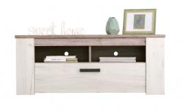 TV stolík Henry - dub biely/dub šedý