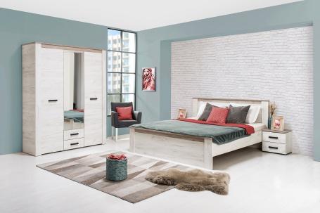 Malá spálňa Henry I - dub biely/dub šedý