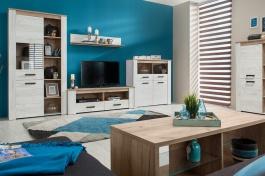 Obývacia izba Henry - dub biely/dub šedý