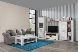 Malá obývacia izba Henry - dub biely/dub šedý
