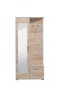 Predsieňová stena so zrkadlom Galina - dub sivý