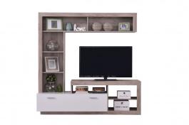 Obývacia stena Jonas - dub sivý/biela