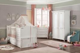 Izba pre bábätko Carmen - biela