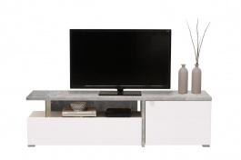Televízny stolík Drago - beton/biela