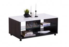Konferenčný stolík Carter - dub čierny/biela