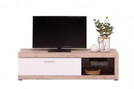 Televízny stolík Ronja - dub sivý/biela