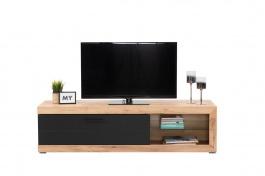 Televízny stolík Ronja - dub zlatý/čierna