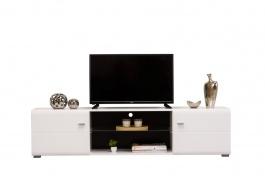 TV stolík Derfel - biela/čierna
