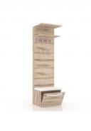 Vešiakový panel Xenie úzky - dub desira ash/biela