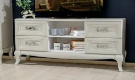 Televízny stolík Claudia - krémová