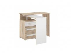 Písací stôl Xenie l'avý - dub desira ask/biela