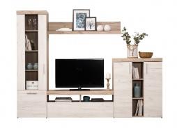Obývacia stena Miriam - dub biely/dub šedý