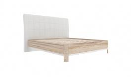 Postel' s úložnym priestorom Xenie 120x200cm - ekokoža biela/dub desira