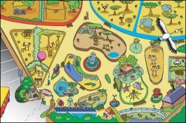 Detský hrací koberec Zoo