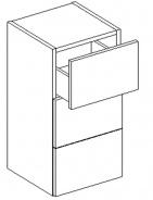 D30S / 3 d. Skrinka so zásuvkami CORAL výber farieb
