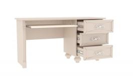 Písací stôl Claudia - krémová