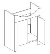 DUM skrinka pod umývadlo Tali duglaska / biela