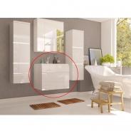 Skrinka pod umývadlo, biela / biely HG, MASON WH13