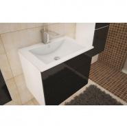 Skrinka pod umývadlo, biela / čierny HG, MASON BL 13