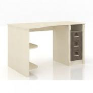 Rohový písací stôl Neptún - béžová/dub tmavý