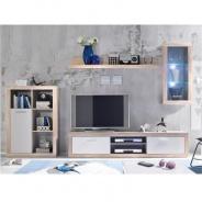 Obývacia stena, dub sonoma / biela, CARACAS