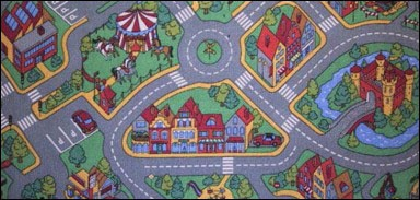 Detský hrací koberec Rally