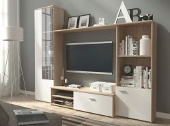 Obývacia stena HUGO sonoma / biela