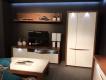 RTV stolík s osvetlením Saint Tropez 221B - dub sangallo/biely lesk