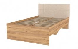 Študentská posteľ Ezra 120x200cm - dub zlatý/krémová