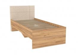 Detská posteľ Ezra 90x200cm - dub zlatý/krémová