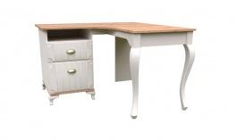 Rohový písací stôl Amfora - dub zlatý/béžová
