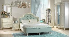 Luxusná spálňa Margaret - krémová/zelená