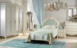 Luxusná detská izba Margaret - krémová/zelená