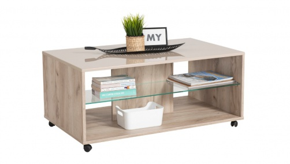 Konferenčný stolík Brady - dub šedý/béžová