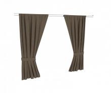 Textilný záves k poschodovej posteli Brody - hnedá