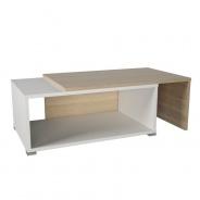 Konferenčný rozkladací stolík, dub sonoma / biela, DRON