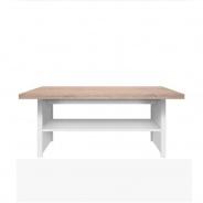 Konferenčný stolík 115, DTD laminovaná, biela / dub sonoma, TOPTY