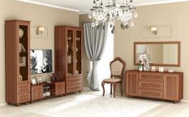 Obývacia zostava Sofia s presklením - orech