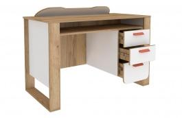 Písací stôl Brody - dub zlatý/biela