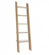 Rebríkový regál Brody - dub zlatý/biela