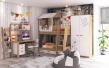 Detská izba pre dve deti Brody - dub zlatý/biela